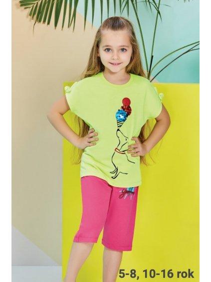 Dievčenské letné pyžamo ZMRZLINA RP1268,2268 zelene