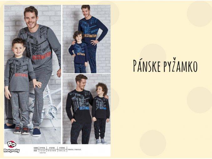 Pánske pyžamo DESTINATION 3114