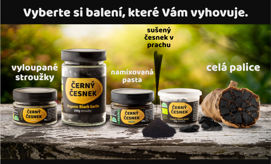 4 druhy černého česneku
