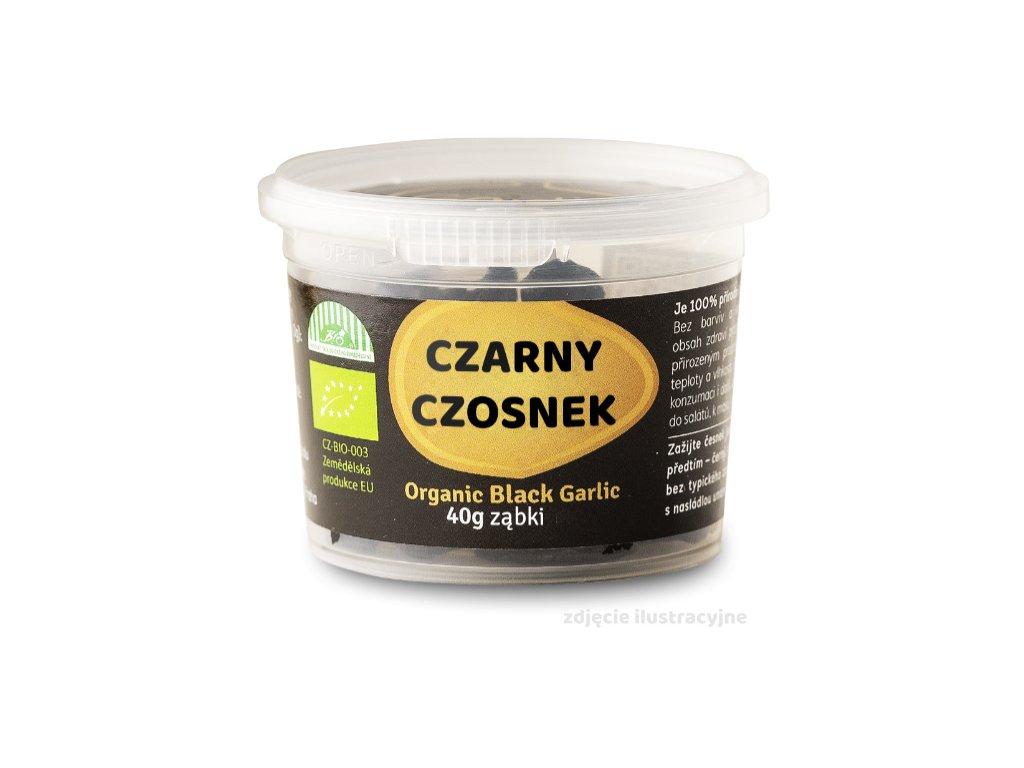 czarny czosnek ząbki plastik 40g