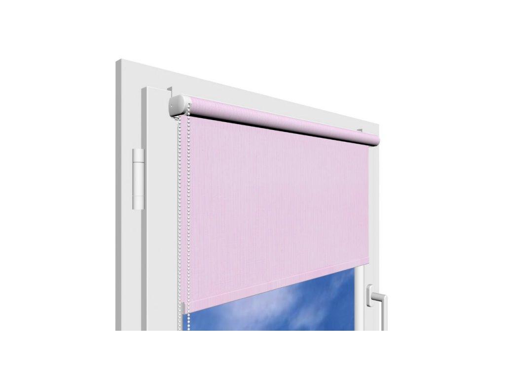 Roleta na okno Polyester 101 s vodícími silony