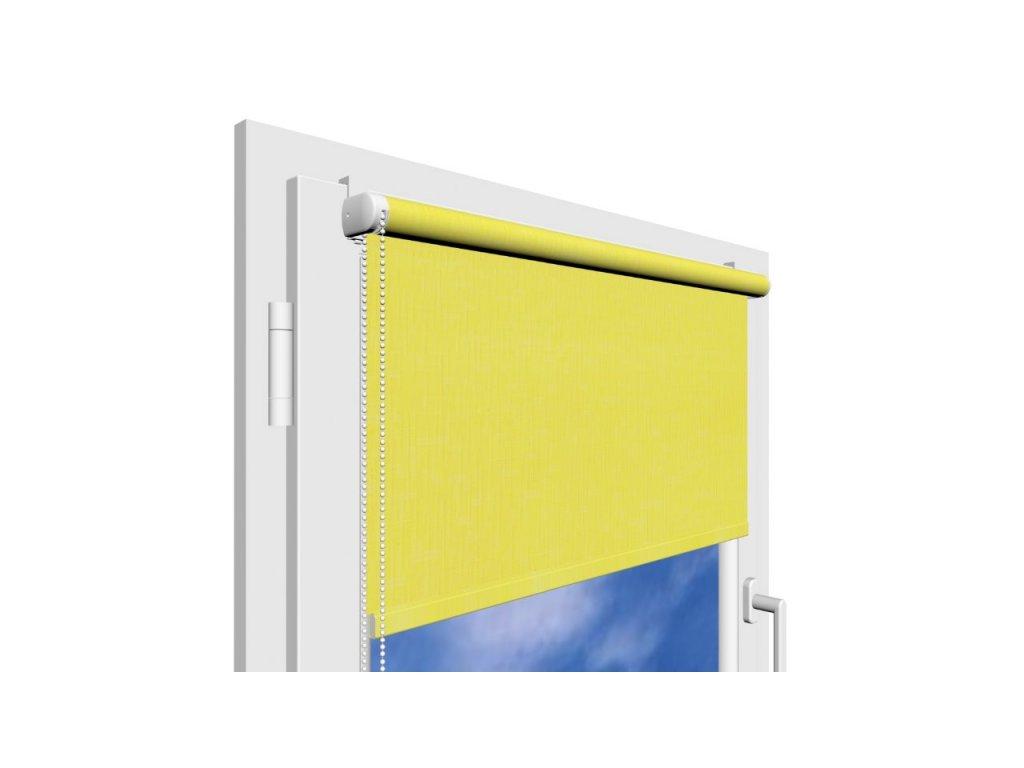 Roleta na okno Polyester 2072 s vodícími silony
