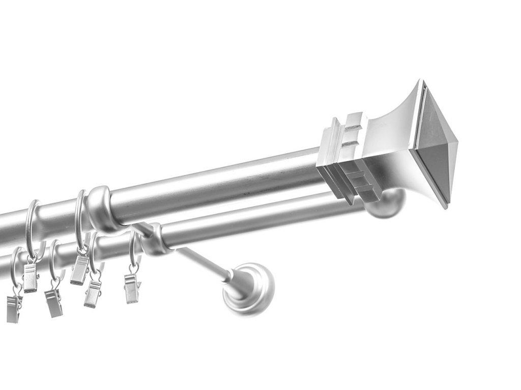 garnyze dvourada chrom 25mm kwardo