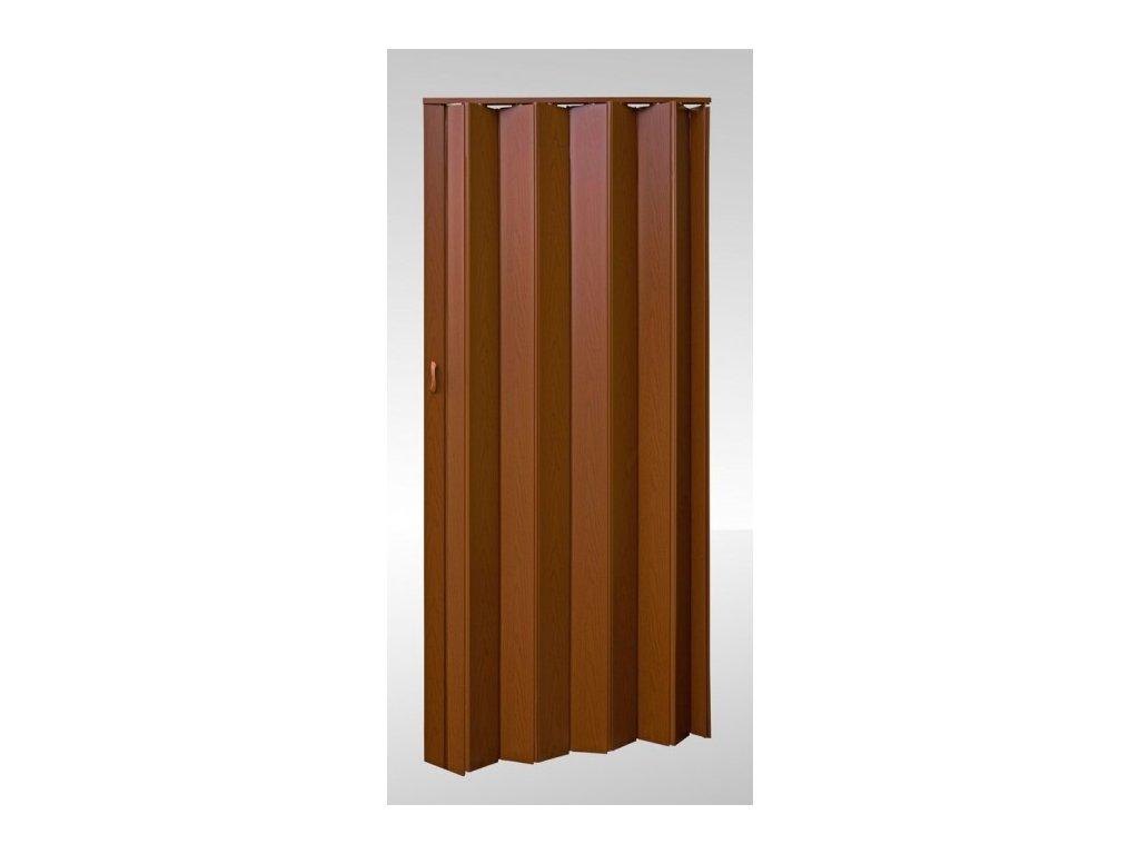 Shrnovací dveře plné Ořech