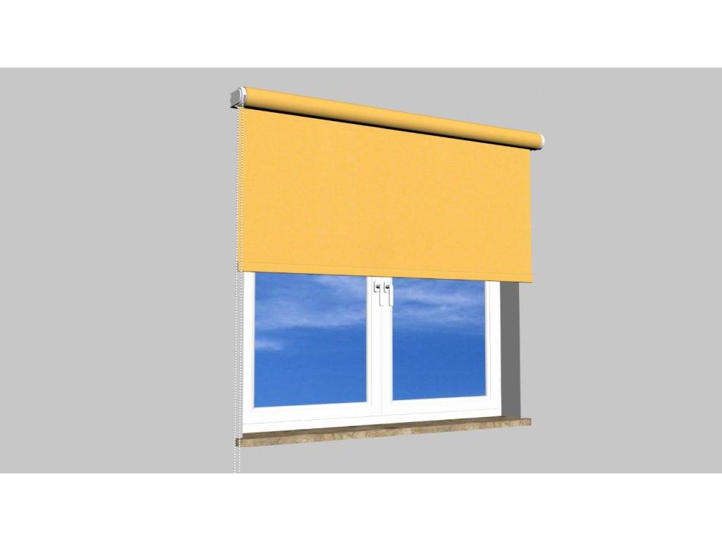 Zatemňující roleta na zeď pogumovaná balkon PG 8