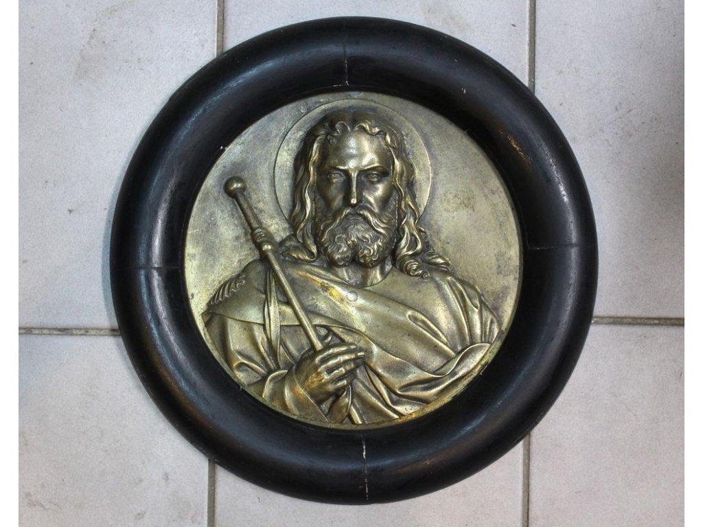 Nástěnná podobizna svatého bronz x107 1