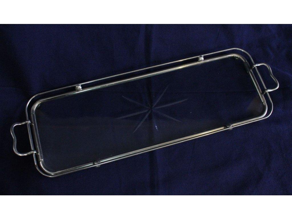 artdecový podnos broušené sklo x158 2