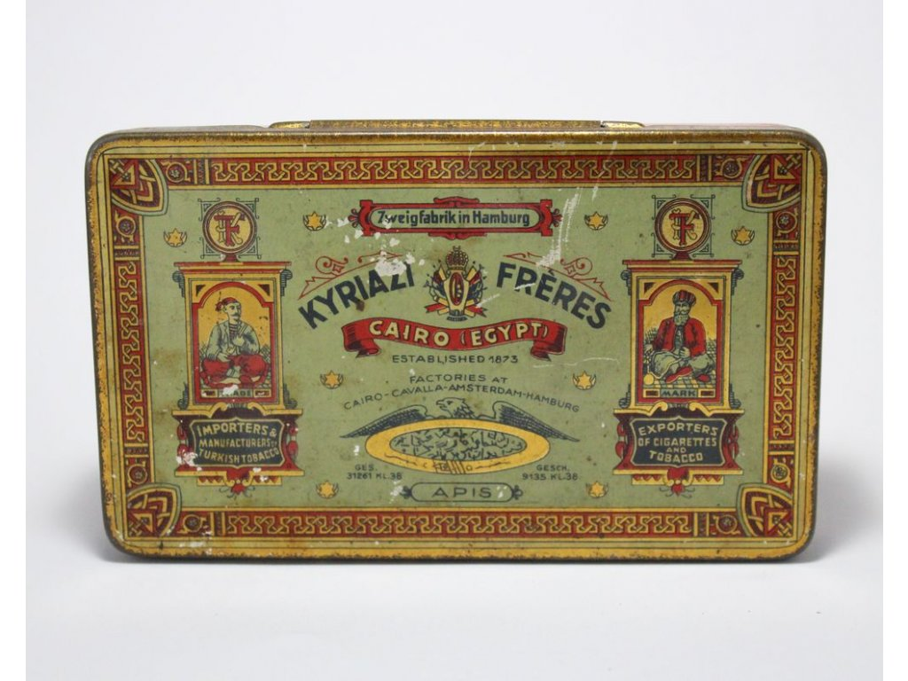 Plechová krabička od tabáku x253 6