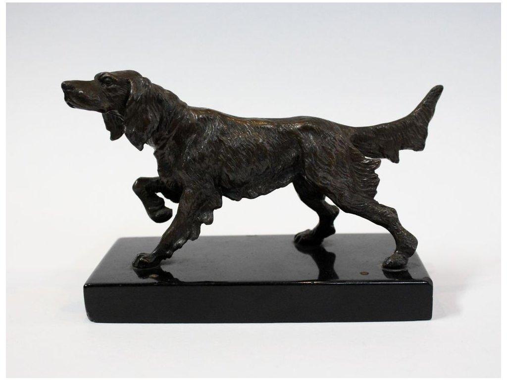 Kovová soška loveckého psa x281 1