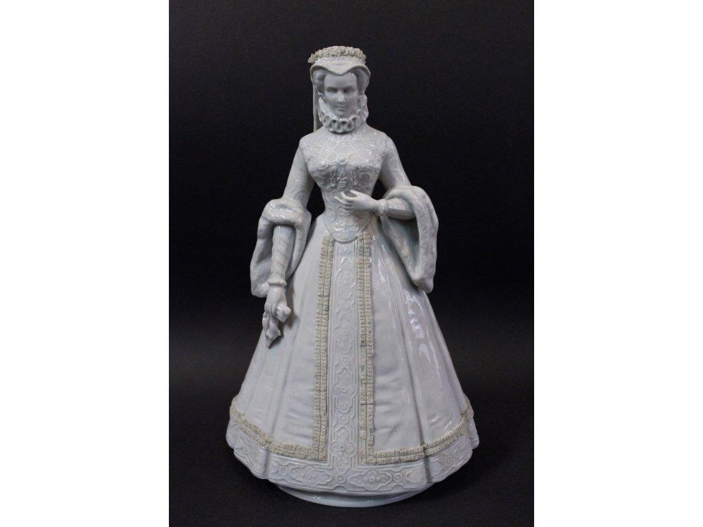 Soška porcelán dáma v šatech Neapol x284 1