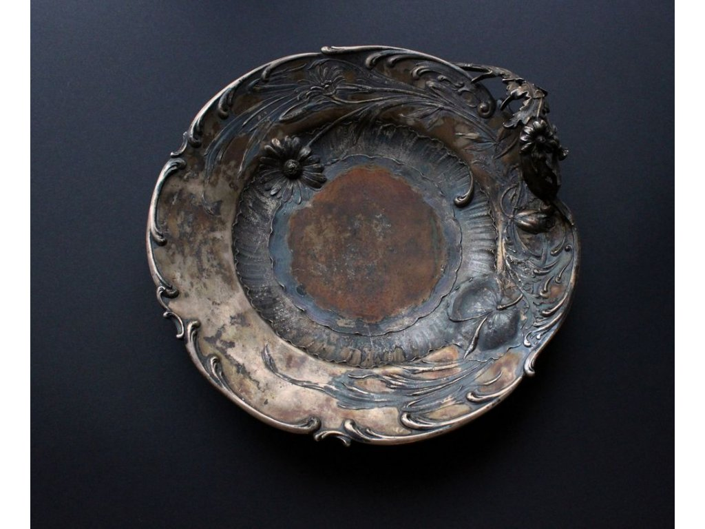 Stříbrný talíř Secese Německo ag147 1