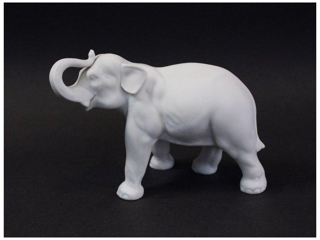 Porcelánový bílý slon biscuit x2958