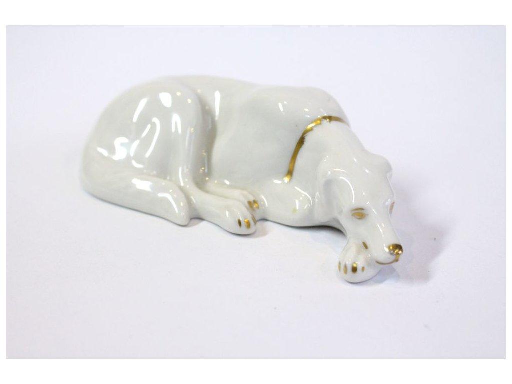 porcelán pes se zlatým obojkem Heraldic x305 1