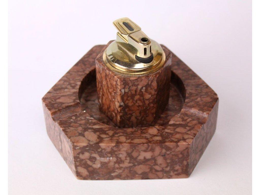 Mramorový zapalovač s popelníkem x314 8