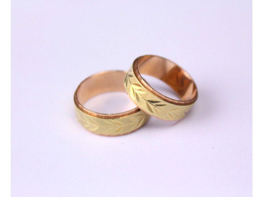 Zlaté snubní prsteny 2 kusy nenošené 14 karátů x323 3