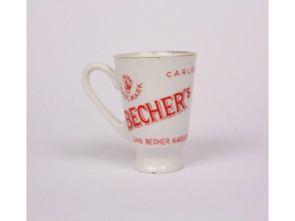 Porcelánový hrníček becherovka x3352