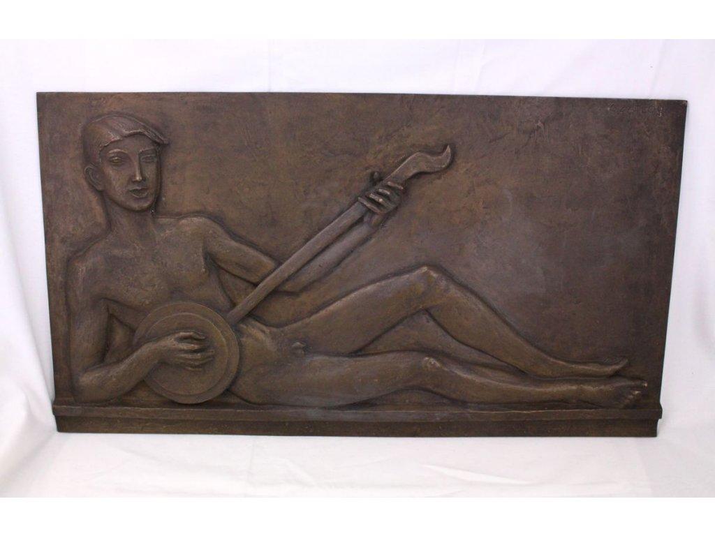 Bronzová plastika Cyril Zatloukal x362 1