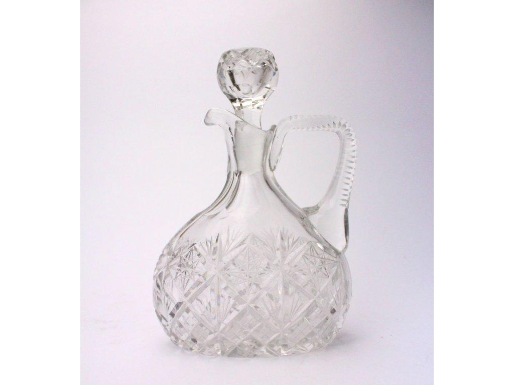 Skleněná karafa broušené sklo x414 6