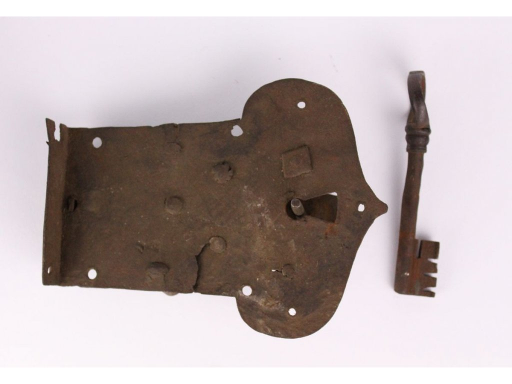 Starý zámek na dveře s klíčem x431 4