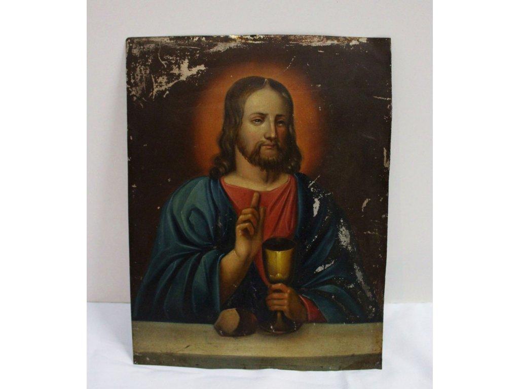 obraz ježíš plech malovaný x438 1