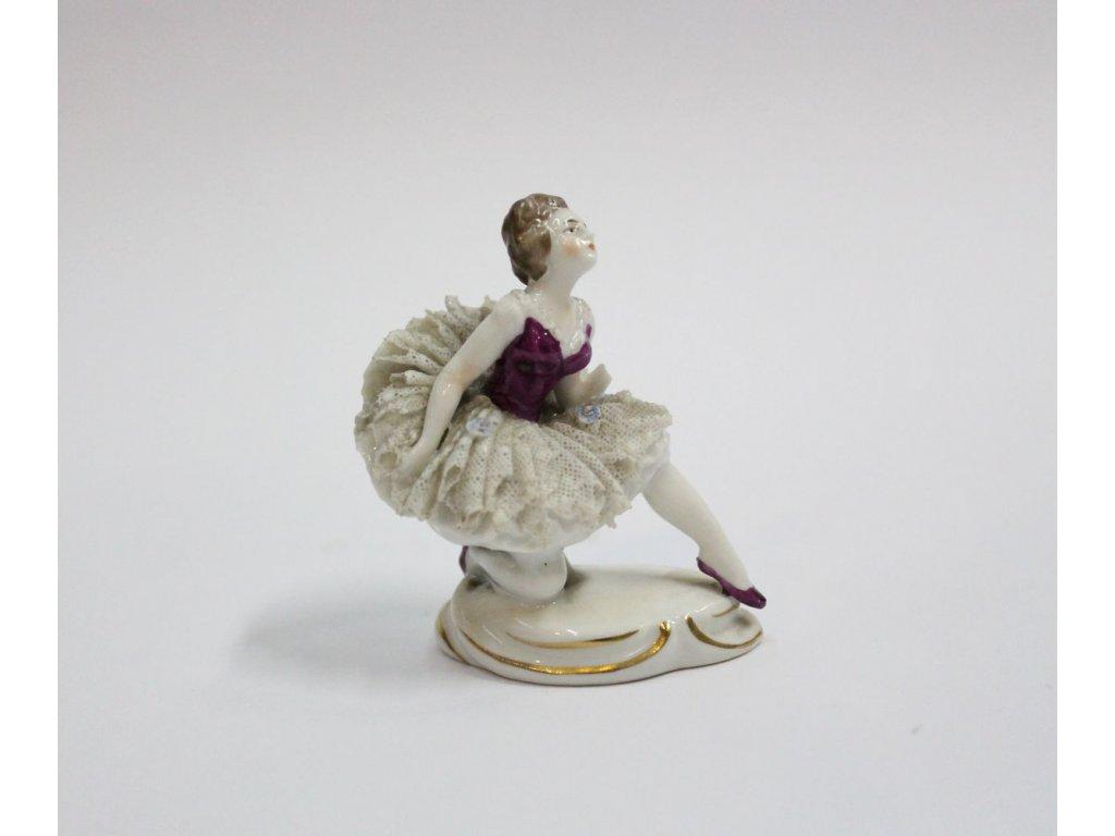 Soška dáma baletka krajka porcelán x448 1