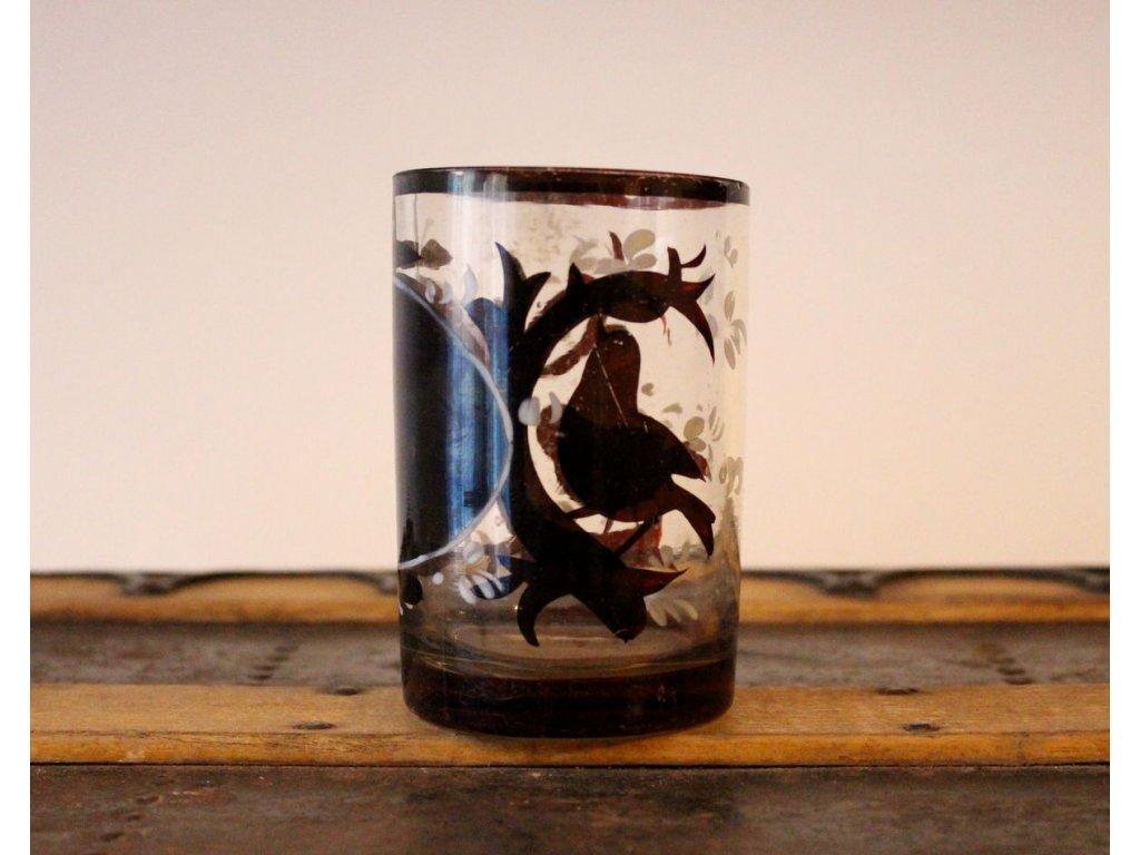 sklenička biedermayer červené sklo x504 1