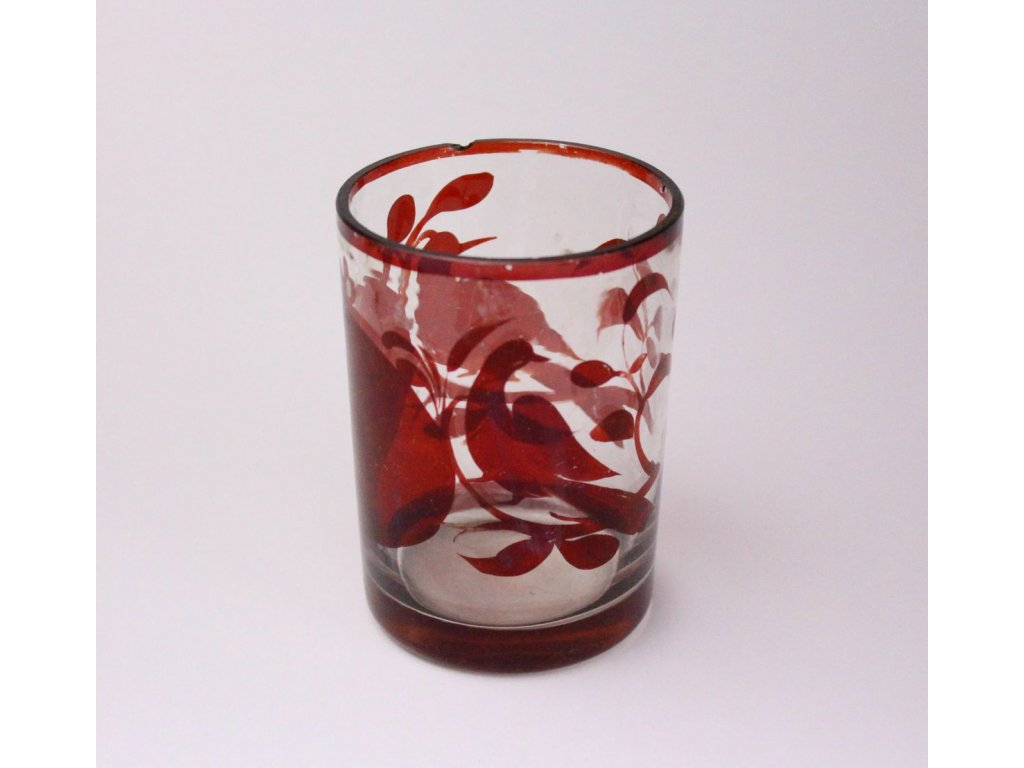 sklenička biedermayer červené sklo x505 2