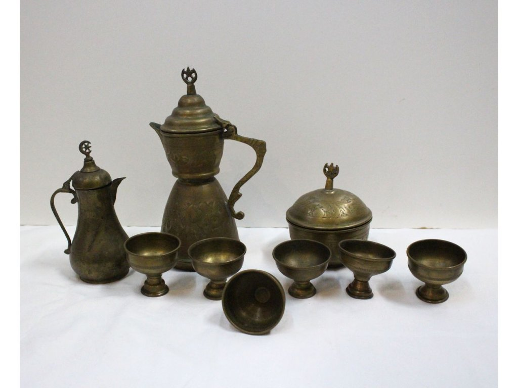 arabská čajová souprava mosaz x522 1