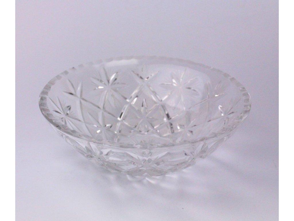 broušená mísa hluboká bohemia crystal prům 18 cm x531 2