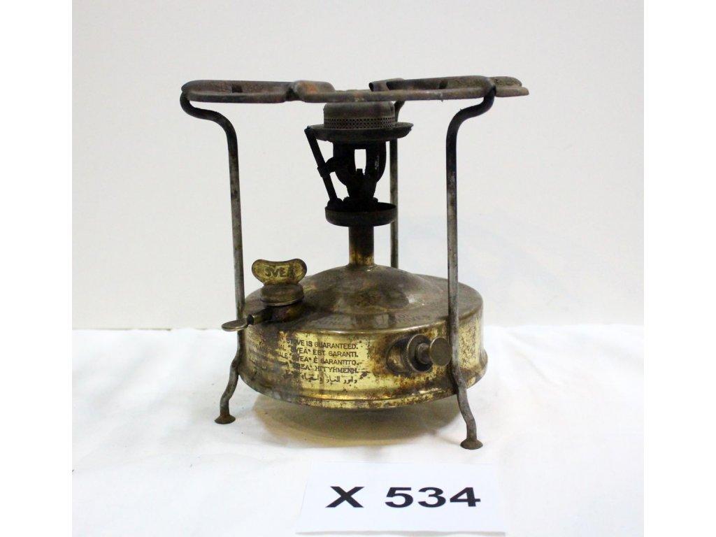Vařič benzínový the king of stoves no5 rozměry x534 9