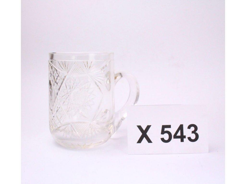 Broušený půllitr sklo x543 1