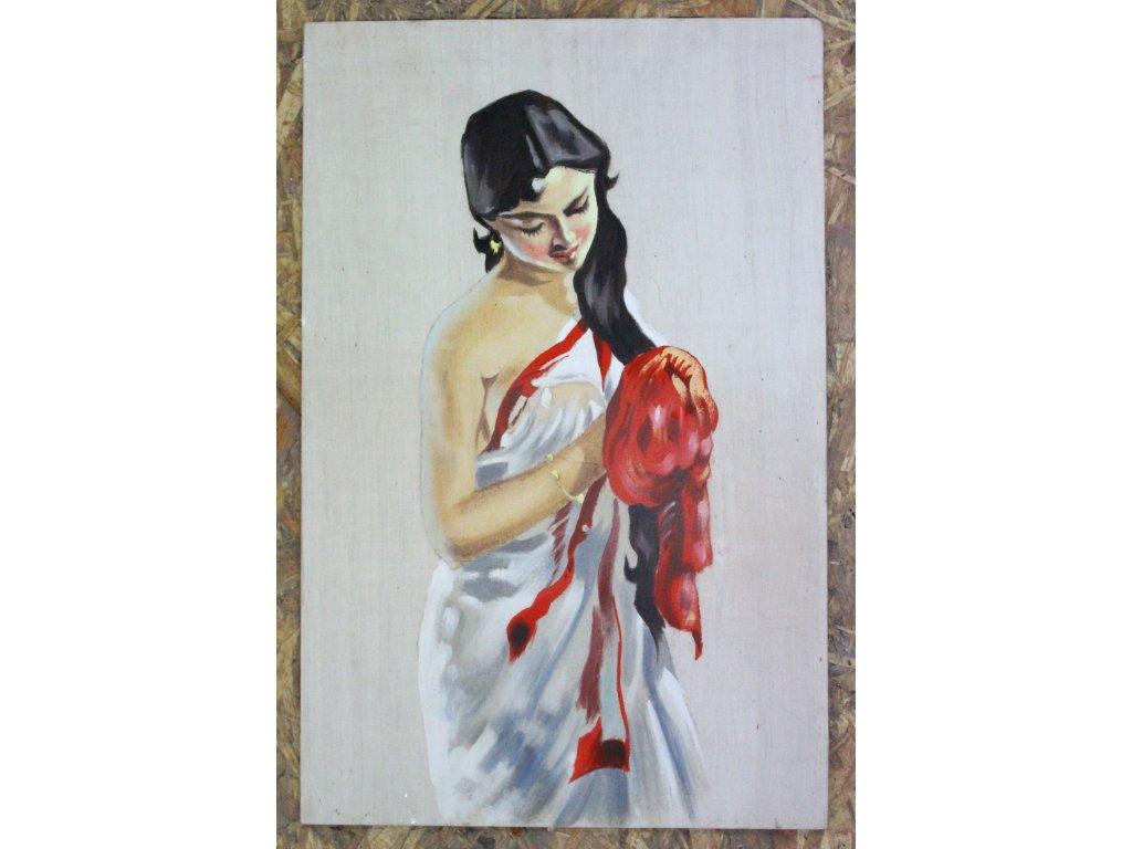 Obraz malovaný portrét žena dívka x572 1