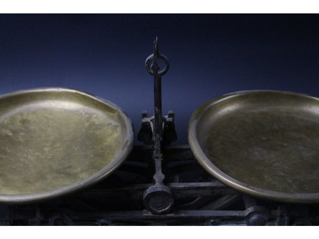 Starožitná kuchyňská misková váha Secesní x577 14