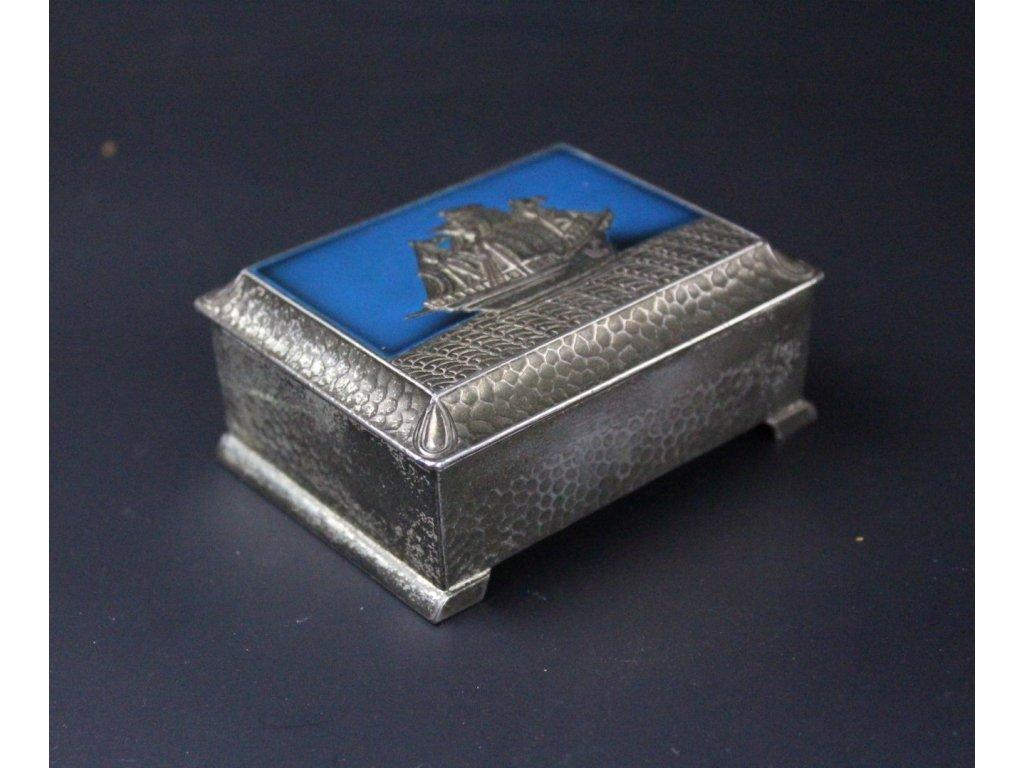 Šperkovnice krabička dozička JAPONSKO LOĎ smaltovaná x581 8