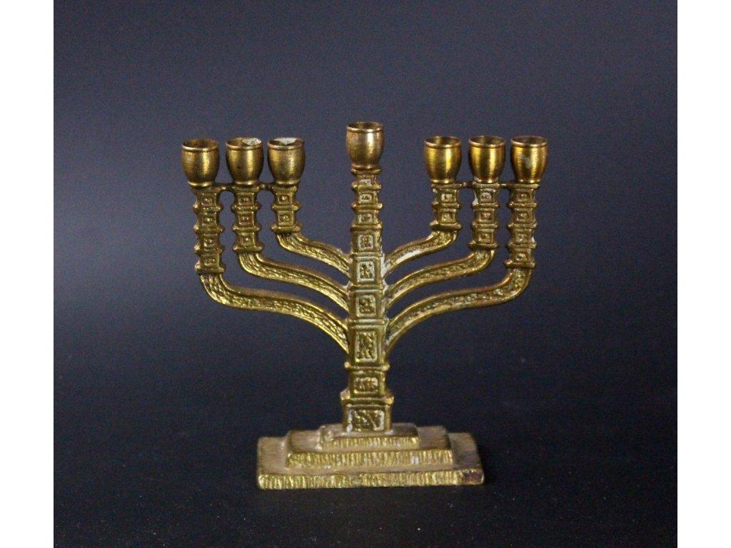 MENORA židovský sedmiramenný svícen x601 4
