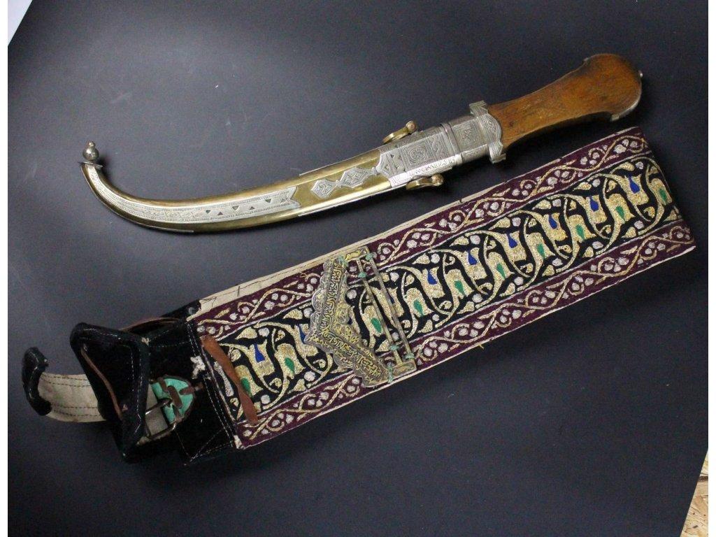 Arabská orientální nuz s páskem x611 21