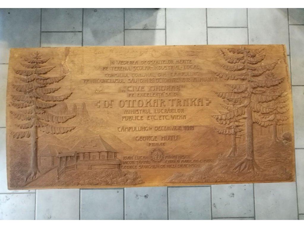 Dřevetná pamětní deska x632 2