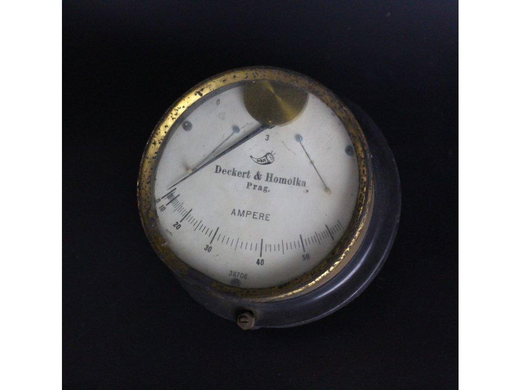 Ampermetr Decret homolka Prag x64710