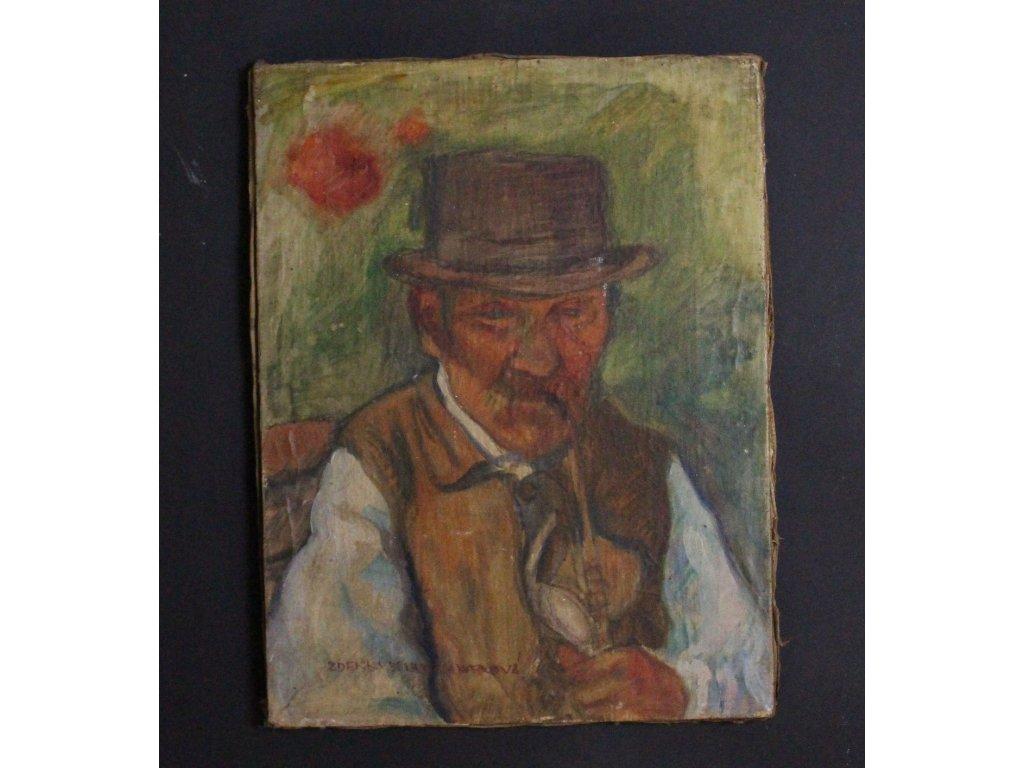 Zdeňka Burghauserová Portrét Děda s fajfkou x654 2