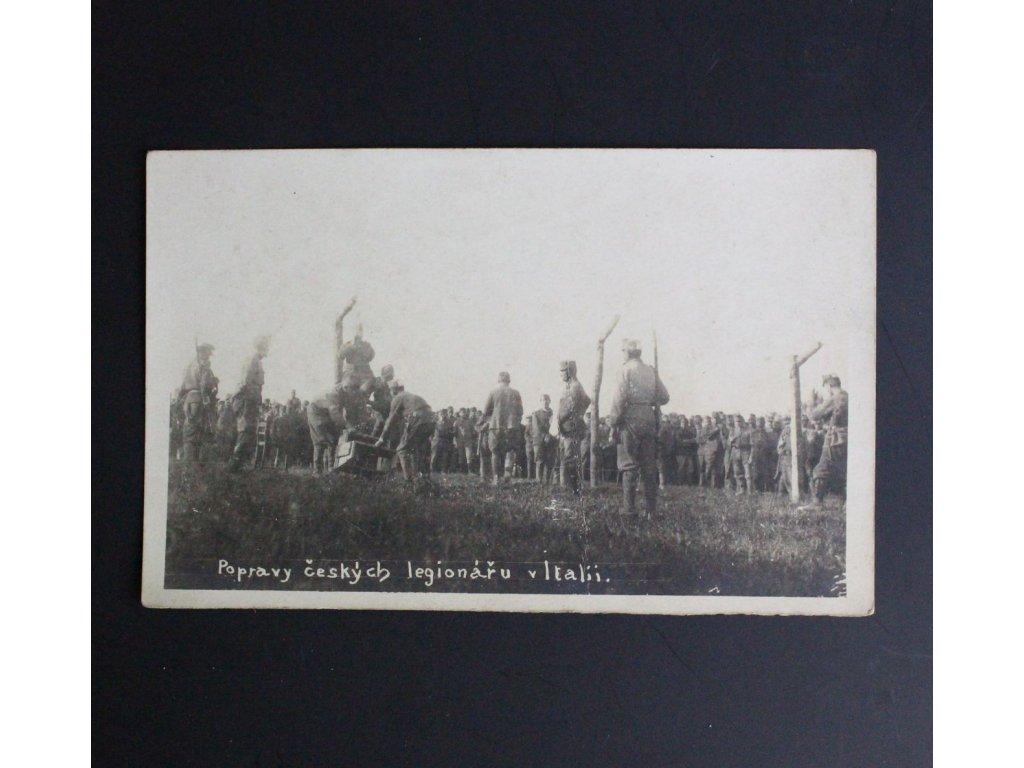 Pohled Popravy český legionářu v Italii x674 1