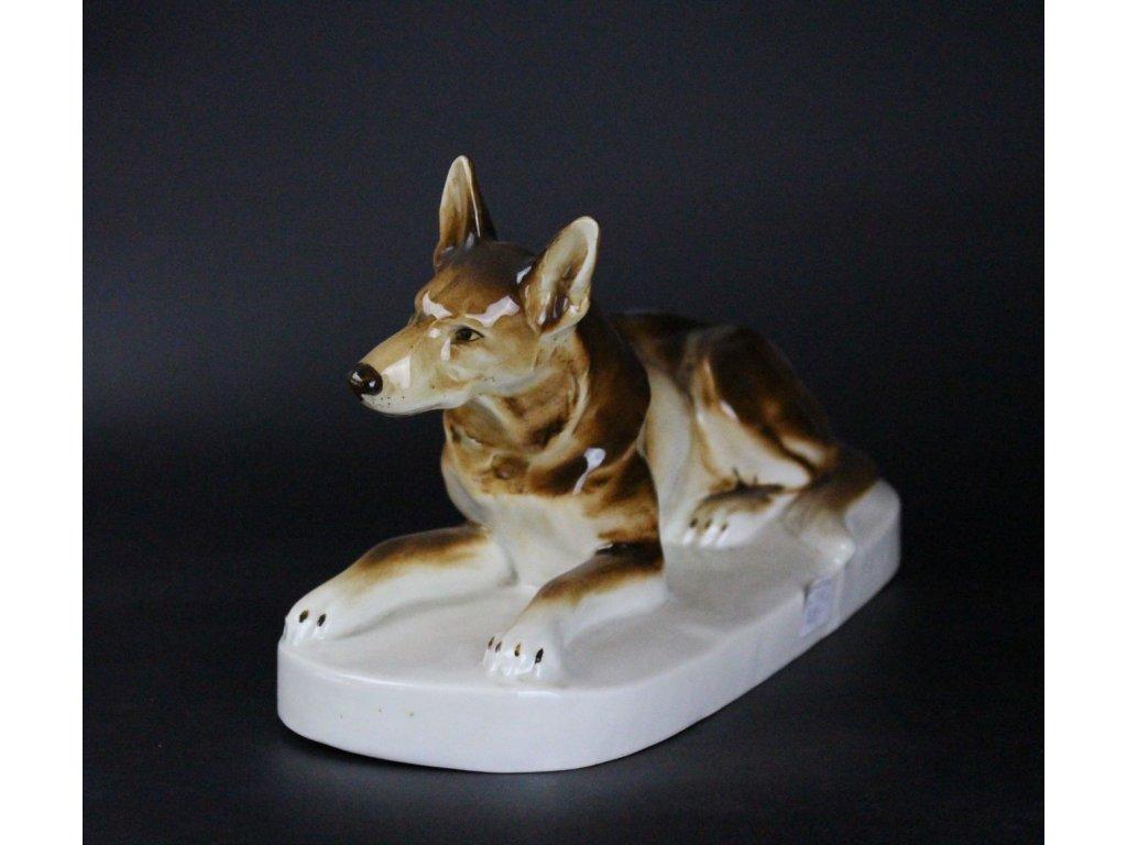 Soška pes porcelán Fiala x682 3