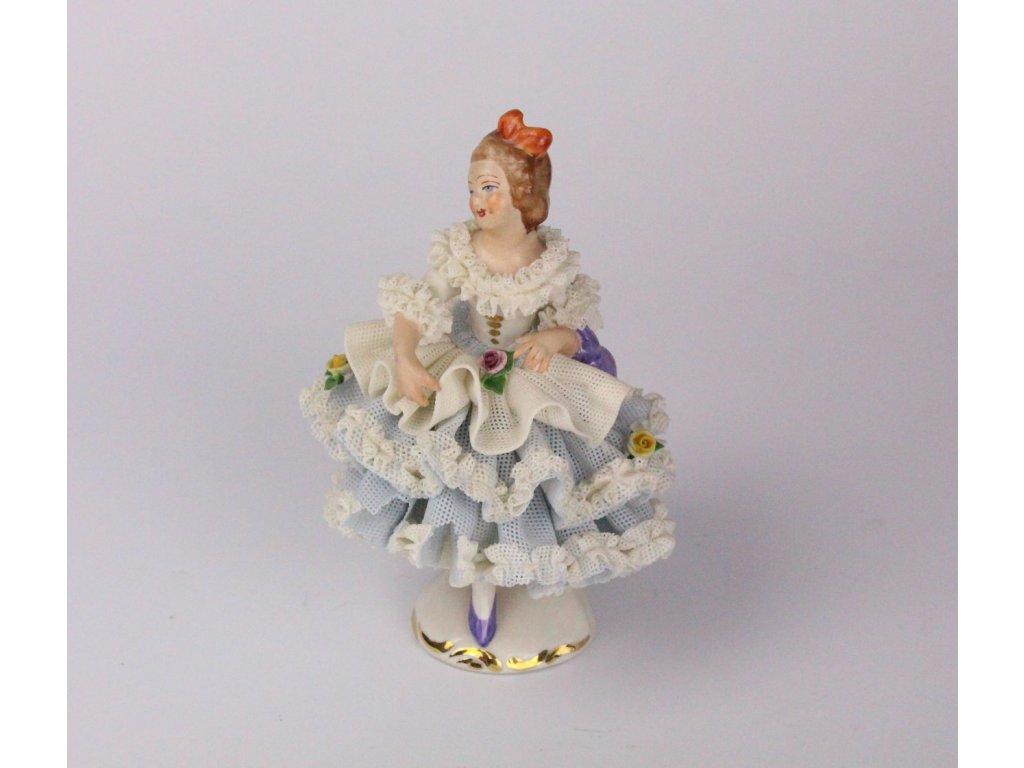 Porcelánová soška dívka Německo x694 1