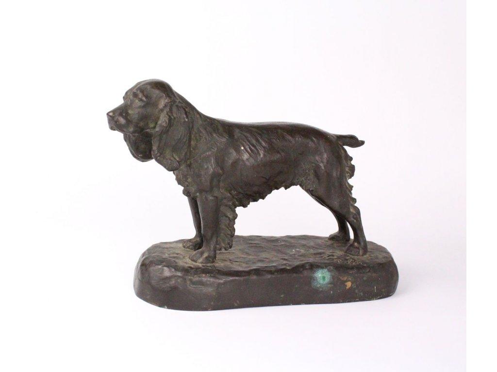 Bronzový pes Sign. Palík x711 9