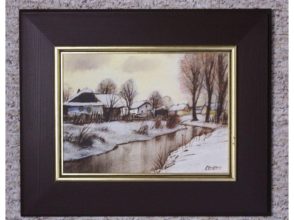 Obraz Chalupy v zimě Jiří Kristen x726 5