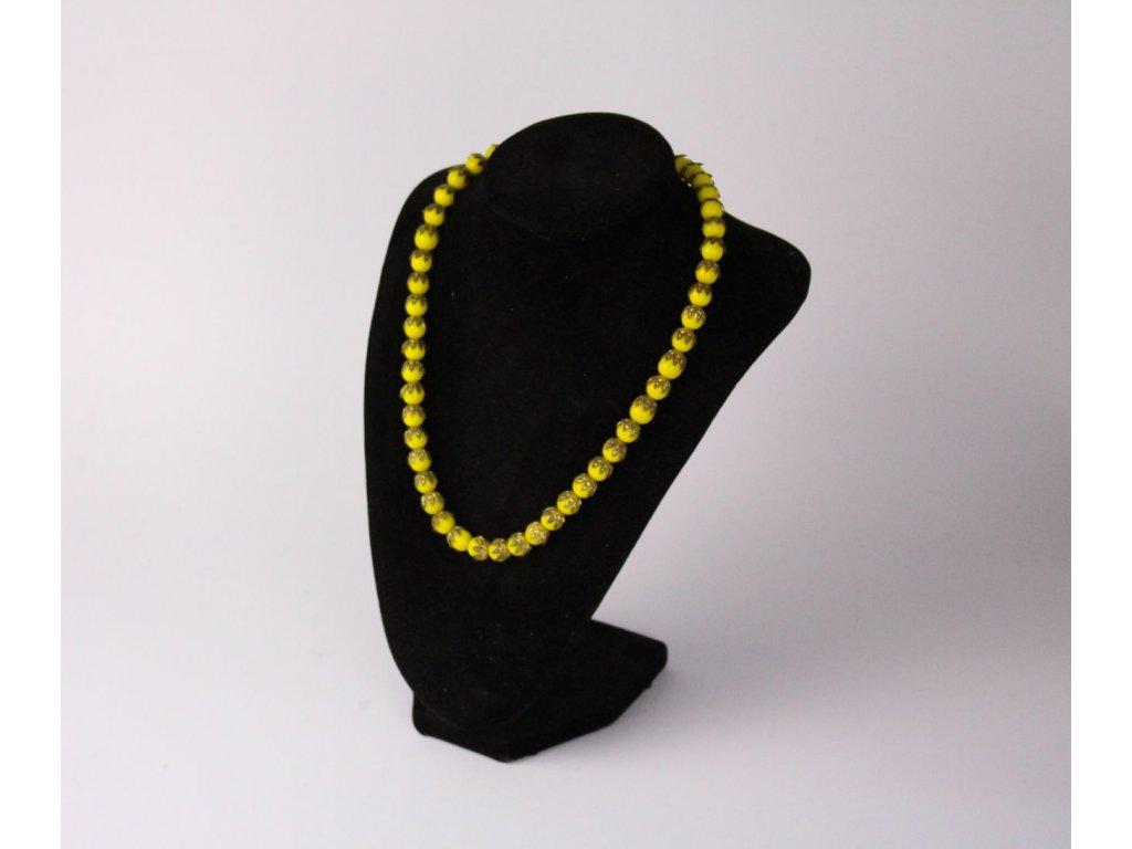 Starý žlutý náhrdelník korále x738 5