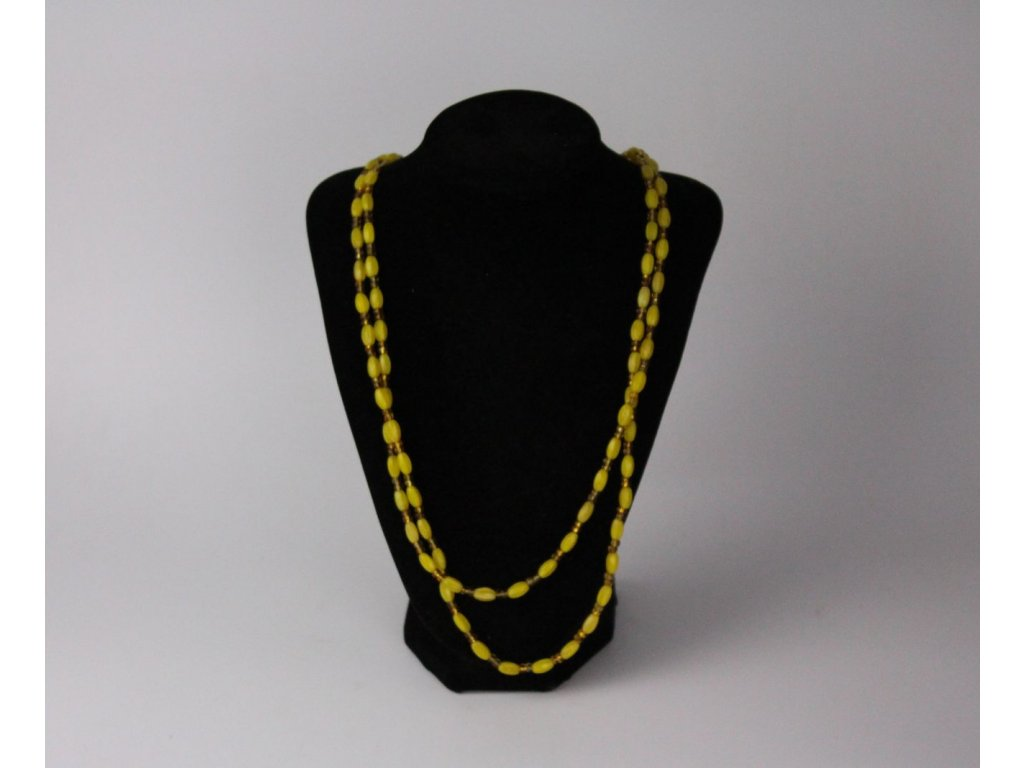Žluté korále náhrdelník x742 1