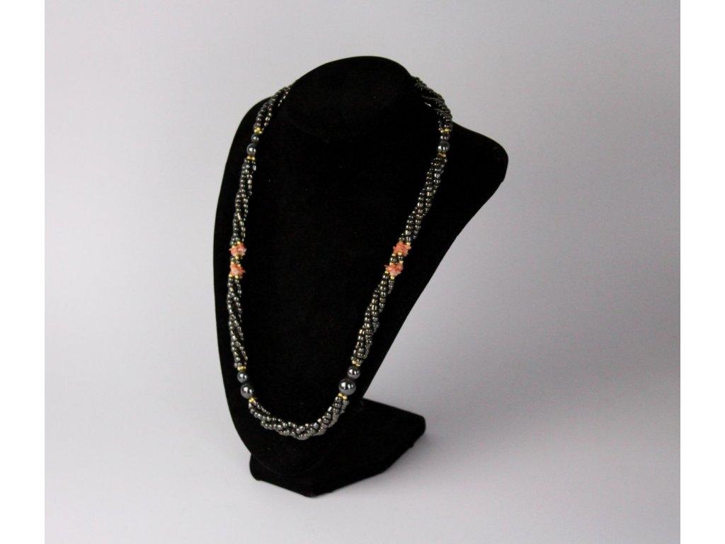 metalová náhrdelník korále x7471