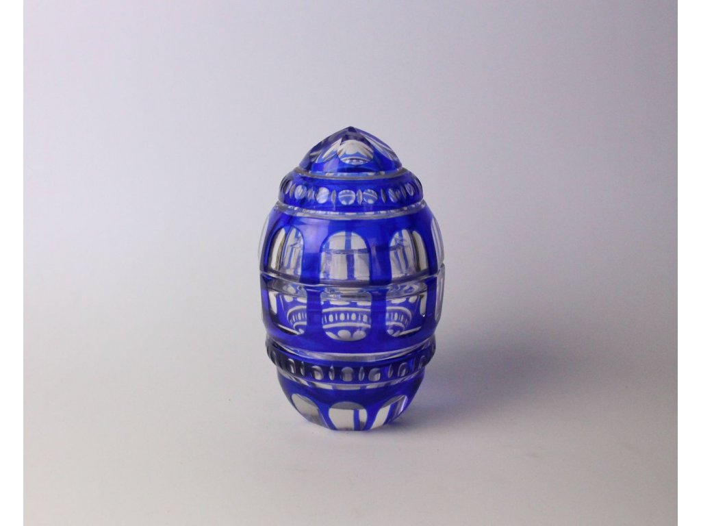 Skleněná modrá dóza x791 2