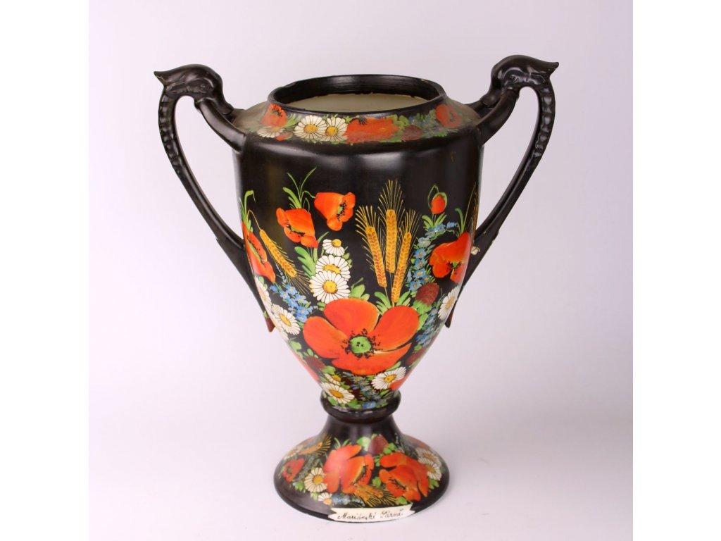 Váza ručně malovaná Mariánské lázně Schlaggenwald x795 1