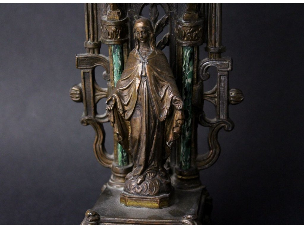 Kovová modlitební soška oltář relikviář x799 1